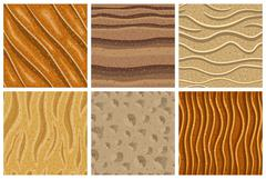 Set of sand seamless pattern - stock illustration