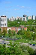 Moscow, Russia - May 13.2016. Sports basketball courts in Zelenograd Stock Photos