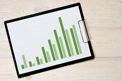 growth trend bar chart - stock photo