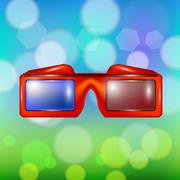 Red Glasses for Watching Movies Piirros
