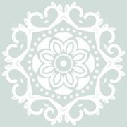 Oriental Abstract Vector Pattern - stock illustration