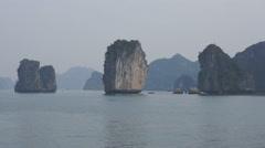 Halong Bay, Vietnam Stock Footage