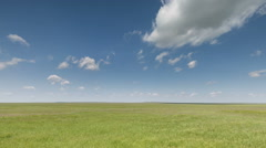The movement of clouds over the fields of wheat in the vast steppes of the Don Stock Footage