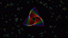 VJ Rainbow Colours Loop Stock Footage