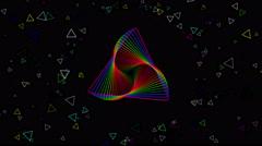 VJ Rainbow Colours Loop - stock footage