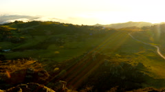 Time-lapse of landscape in Portugal. Sunset. Stock Footage
