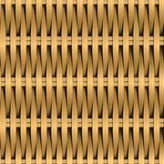Cane wicker woven fiber seamless pattern - stock illustration