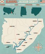 Jackson County in Alabama USA Stock Illustration