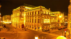 View on the historic Opera house in Vienna Stock Footage