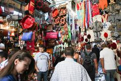 People shopping in Medina - stock photo