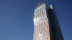 AZ Tower Brno the tallest building in the Czech Republic - stock footage