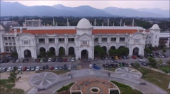 Aerial view of a historical Ipoh Railway Station located in Perak, Malaysia. Stock Footage