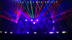 Beautiful multi colored laser show - stock footage