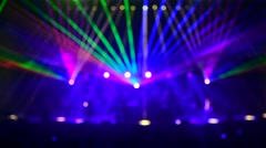 Beautiful multi colored laser show Stock Footage