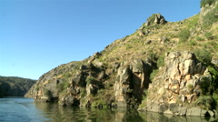 Douro river International - Portugal / Spain. Stock Footage