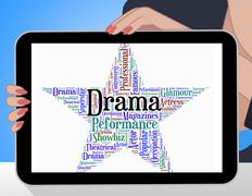 Drama Star Represents Stage Theaters And Melodramas Stock Illustration