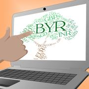Byr Currency Indicates Forex Trading And Banknote - stock illustration