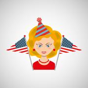 independence day celebration design - stock illustration