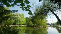 Canon Hill Park lake, Birmingham. Stock Footage