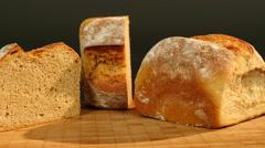 Dolly around german buttermilk bread Stock Footage