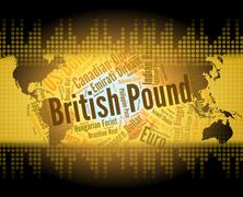 British Pound Represents Worldwide Trading And Broker Stock Illustration