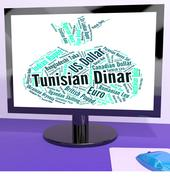 Tunisian Dinar Shows Worldwide Trading And Currencies - stock illustration