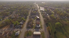 Moving aerial footage above suburbs in Raleigh, NC. Arkistovideo