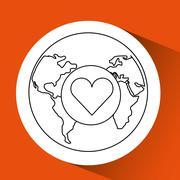 global technology design - stock illustration