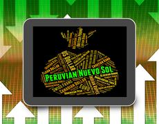 Peruvian Nuevo Sol Means Foreign Exchange And Coinage Stock Illustration