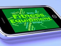 Fitness Equipment Indicates Physical Activity And Athletic Stock Illustration