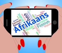 Afrikaans Word Represents Foreign Language And Communication Stock Illustration