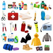 Survival Kit Icons Stock Illustration