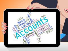 Accounts Words Indicates Balancing The Books And Accountant Stock Illustration