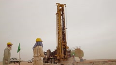 Workers And Hydraulic Drilling Machines - stock footage