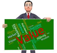 Value Words Indicates Quality Assurance And Certified - stock illustration