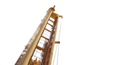 Working Process On Oil Well Stock Footage