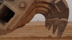 Rusty Claw Of A Bulldozer Excavator Arm - stock footage