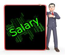 Salary Word Shows Pay Salaries And Employees - stock illustration