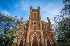 Little Trinity Anglican Church, in Toronto, Ontario. Stock Photos