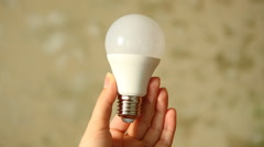 Light bulb, idea concept Stock Footage
