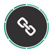 Link computer symbol - stock illustration