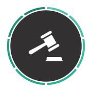 Judge gavel computer symbol Piirros