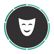 Comedy mask computer symbol Stock Illustration