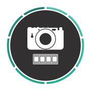 Camera computer symbol Stock Illustration