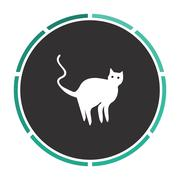 Evil Cat computer symbol Stock Illustration