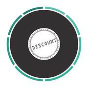 Discount computer symbol Stock Illustration