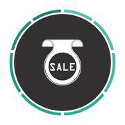 Sale computer symbol Stock Illustration