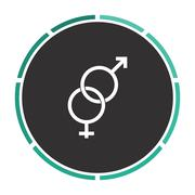 Gender computer symbol - stock illustration