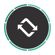 refresh computer symbol - stock illustration