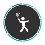Tennis computer symbol Stock Illustration